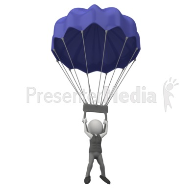 Parachutist clipart chute Figure Art for Sports Figure