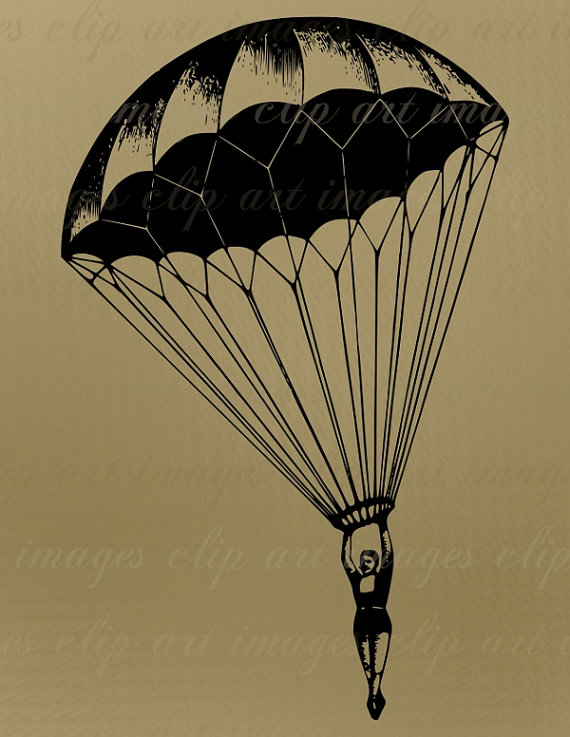 Parachutist clipart Required Art Credit No Parachute