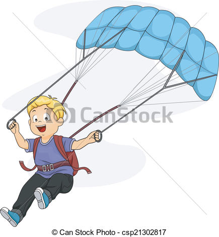 Parachutist clipart kid parachute  Illustration Parachute Vector Kid