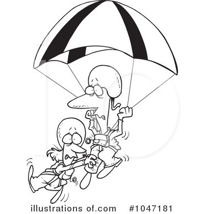 Parachutist clipart kid parachute Toonaday Parachuting Royalty Parachuting Free