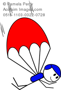 Parachutist clipart kid parachute Skydiver & skydiver Acclaim Images