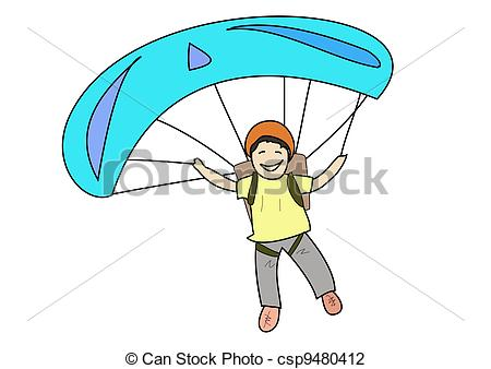 Parachutist clipart kid parachute And Parachuting Art csp9480412 smile
