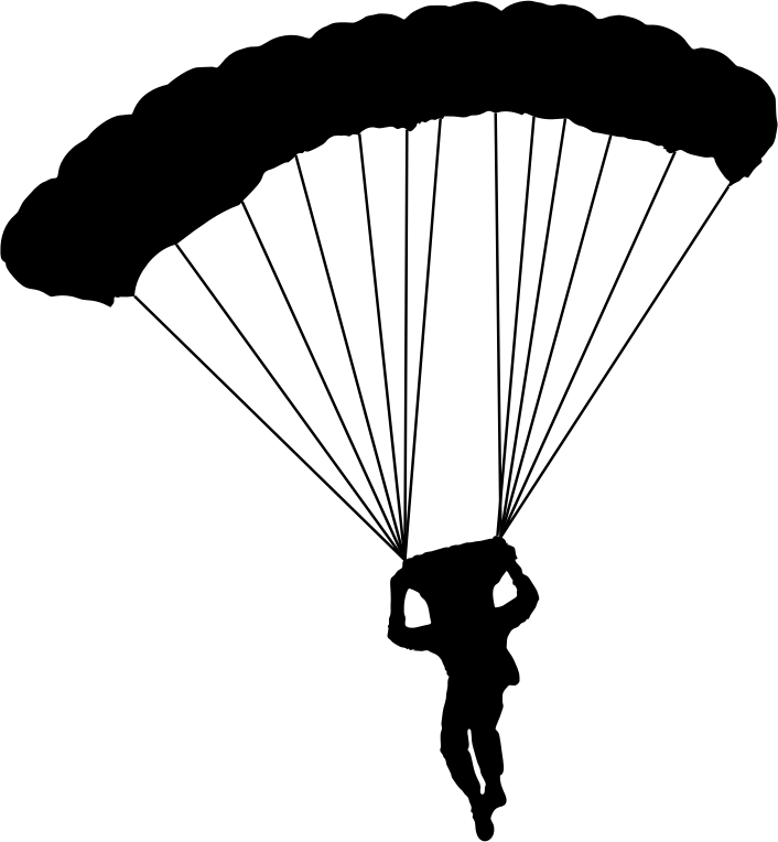 Parachutist clipart PNG Silhouette Clipart Parachute 3