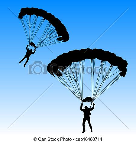 Skydiving clipart Csp16480714 vector vector parachuting Skydiver