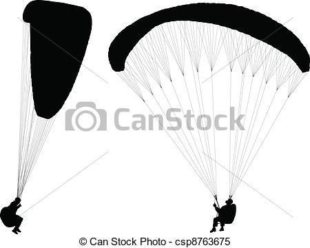 Parachutist clipart paraglider Theme silhouette By Controlled Paragliding