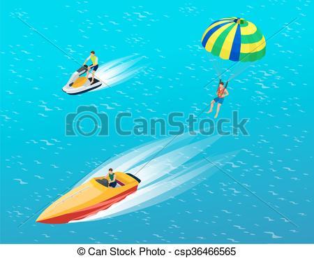 Parachutist clipart parasail Behind motor motor with vacation
