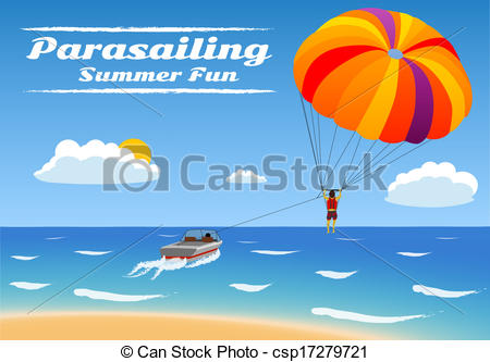 Skydiving clipart parasail Csp17279721 Illustration Parasailing kiting Parasailing