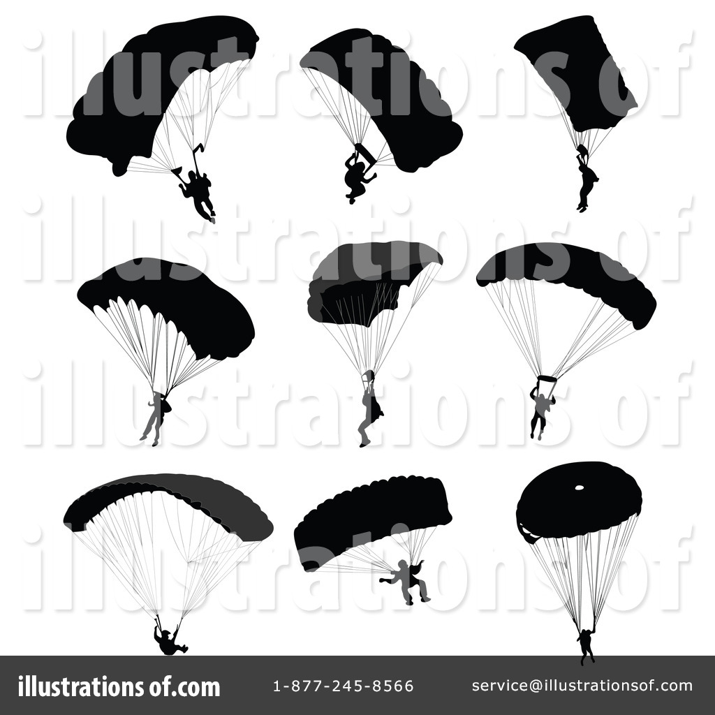 Skydiving clipart paratrooper Illustration leonid (RF) Royalty by