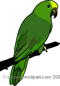 Brds clipart parrot Bird Clipart Parrot Green parrot
