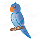 Parakeet clipart perch Blue perch Art Blue Abeka