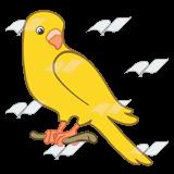 Parakeet clipart perch Yellow branch a Art Yellow