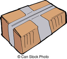 Parcel clipart Close Parcel vintage  post