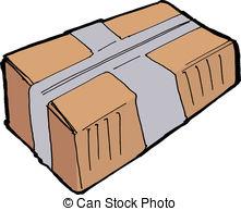 Parcel clipart delivery man Parcel  post parcel Vector