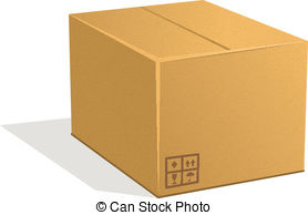 Parcel clipart heavy object A Graphics EPS vector Cardboard