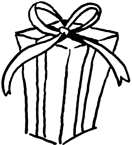 Parcel clipart black and white Pictures Images Gift Black Clip