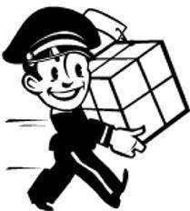 Parcel clipart black and white Picture Amber Otis