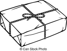 Parcel clipart black and white Illustration pape  vector; box