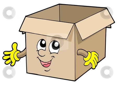 Parcel clipart cardboard box Cardboard Open stock Similar vector
