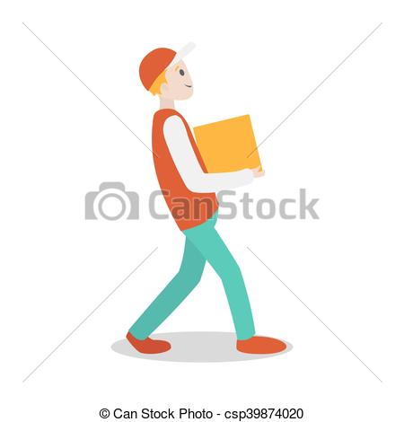 Parcel clipart delivery guy Csp39874020 with guy parcel Vector