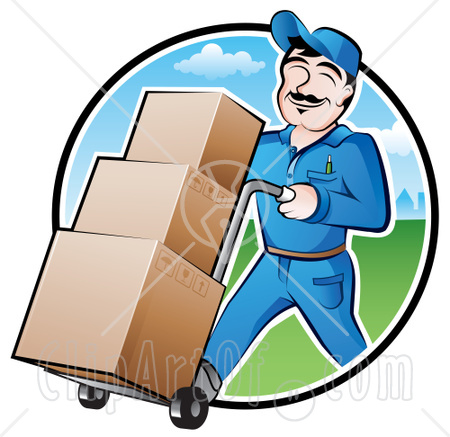 Parcel clipart delivery guy Delivery Dippin Couriers Delivery LTL