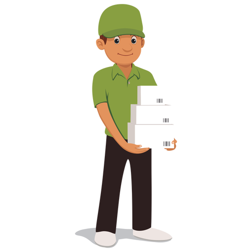 Parcel clipart delivery man Parcel Parcel delivery vector &