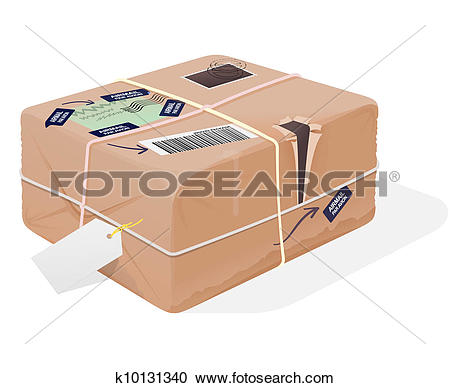 Parcel clipart interface Collection Clipart Illustration paket Package