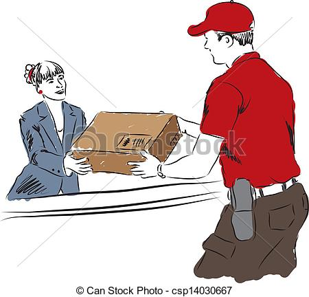 Parcel clipart package delivery Art Vector of professional work