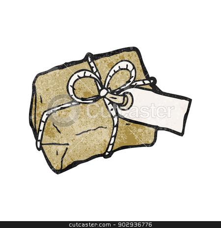 Parcel clipart sent White cartoon stock parcel clipart
