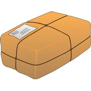 Parcel clipart sent Pattern Pass clip the 820821