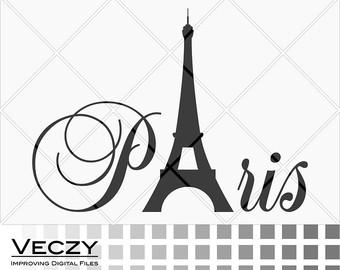 Paris clipart Paris Paris svg files Paris