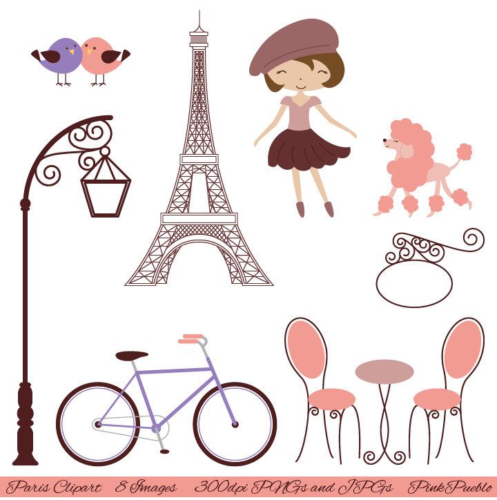 Paris clipart Art Eiffel French Paris Art