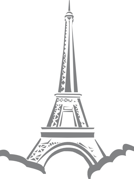 Paris clipart Paris art Eiffel Paris in