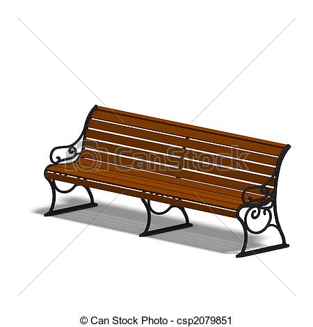 Park Bence clipart Clipart Illustration park wooden shadow