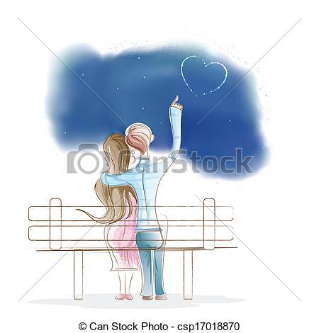 Park Bence clipart easy Sitting Girl Boy easy of