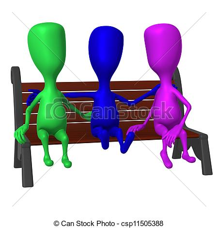 Park Bence clipart front On taking puppet bench of