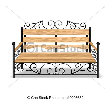 Park Bence clipart front  of Classical Vector Vector