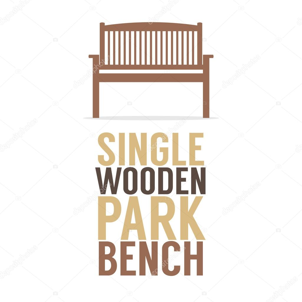 Park Bence clipart wooden chair Single On Background White Illustration