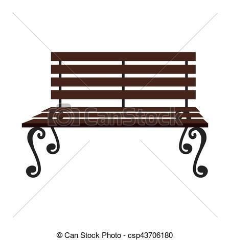 Park Bence clipart wooden chair Vector icon Vector chair vector