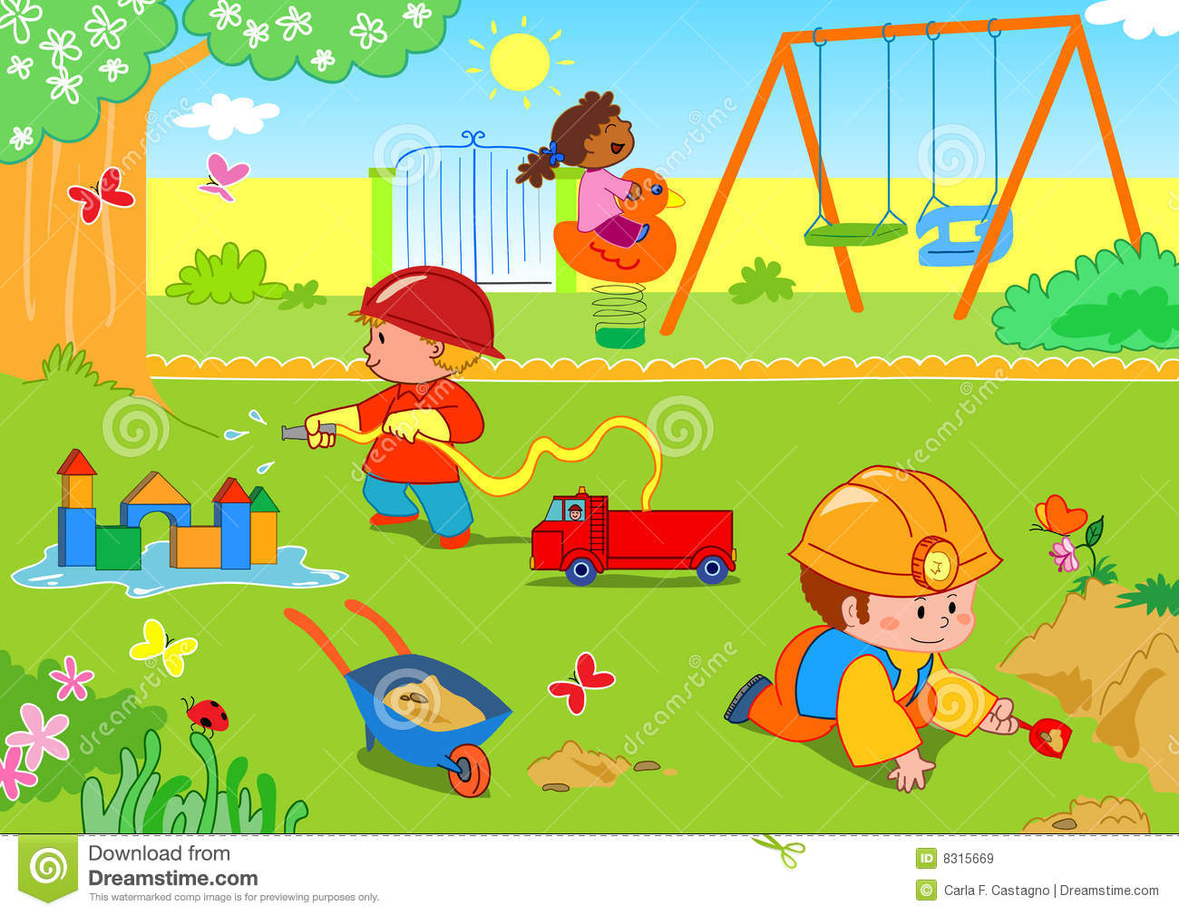 Place clipart play park #11