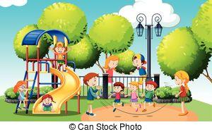 Park clipart In park park  Children