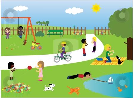 Park clipart Park 4 Children park clipart