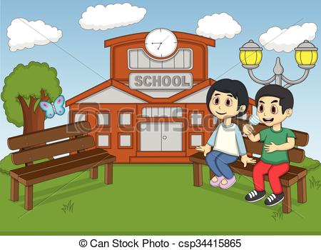 Park Bence clipart school bench #12