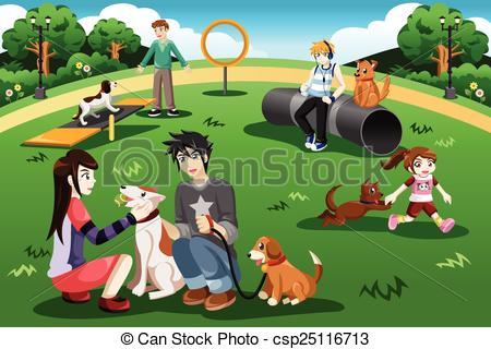 Park clipart dog park  dog park in a