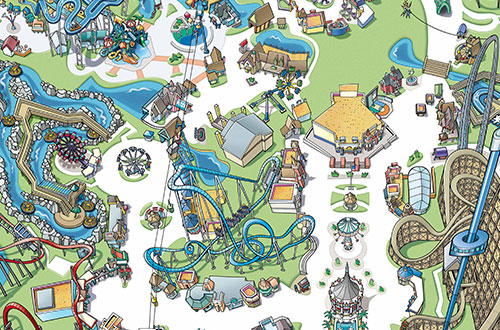 Park clipart great america Great Map America CA and
