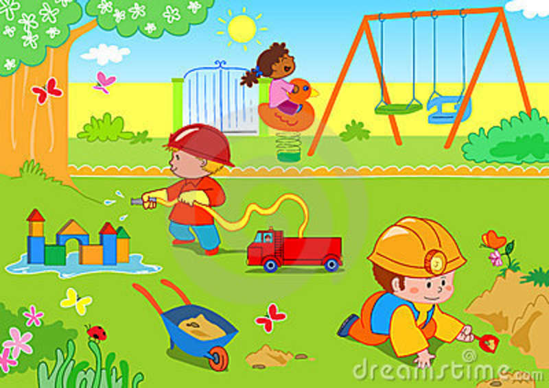 Garden clipart animated Collection Together Children garden the