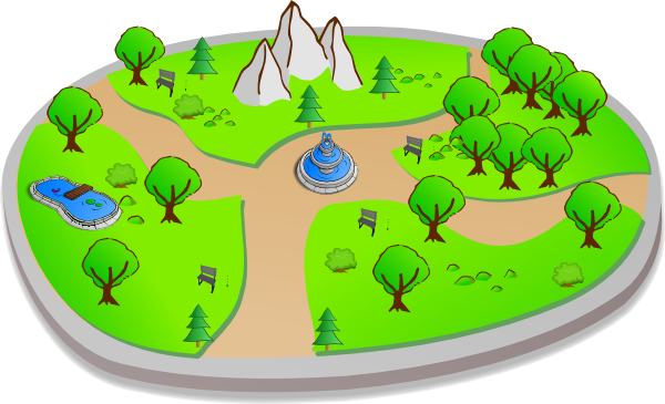Park clipart map Clker vector at as: clip