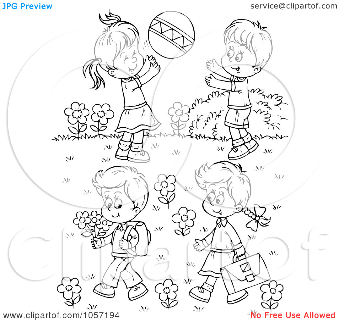 Playground clipart outline #9