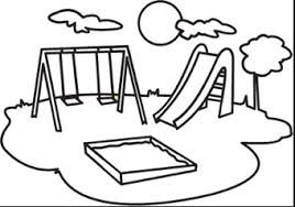 Playground clipart black and white Cliparts Zone Simple drawings Cliparts