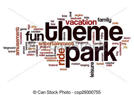 Park clipart the word Park concept park Theme concept