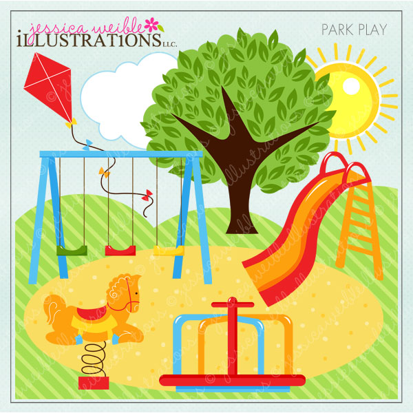 Playground clipart word Scrapbooking Crafts Invitations Play and